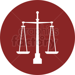 scale of justice vector clipart red icon clipart. Royalty-free image # 412151