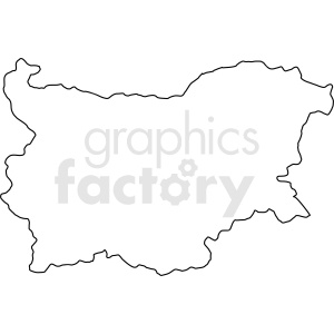 Bulgaria outline vector clipart. Commercial use image # 412166