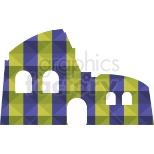 Colosseum purple and yellow vector design clipart. Royalty-free image # 412175