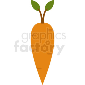 cartoon carrot clipart. Royalty-free image # 412251
