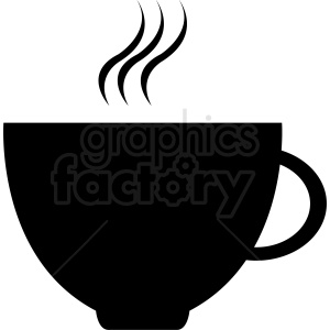 black coffee cup design clipart. Royalty-free image # 412254