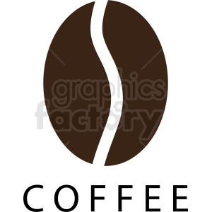 coffee bean logo template clipart. Royalty-free image # 412269