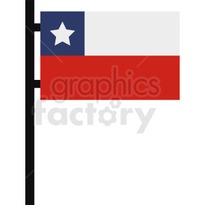 simple Chile flag icon clipart. Commercial use image # 412330