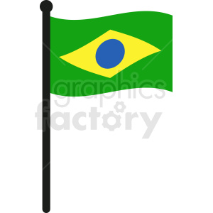waving brazil flag vector clipart. Royalty-free image # 412333