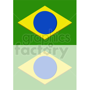 brazil flag icon with reflection clipart. Royalty-free image # 412354