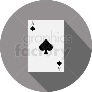 Ace of spades card vector icon clipart. Royalty-free image # 412380