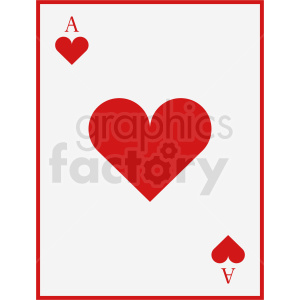 Ace of hearts card vector clipart clipart. Royalty-free image # 412381