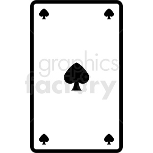 spades playing card vector icon clipart. Royalty-free image # 412384