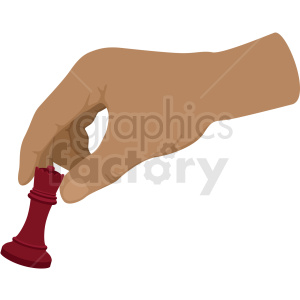 hand playing chess vector clipart clipart. Royalty-free image # 412492