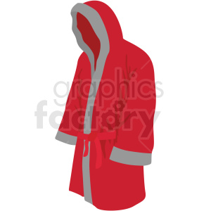 red boxing robe vector clipart clipart. Commercial use image # 412502