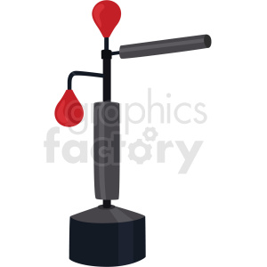 standing focus punching bag vector clipart clipart. Commercial use image # 412523