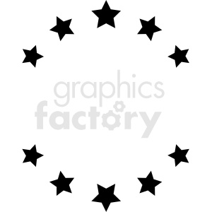star circle design vector clipart