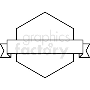 ribbon over hexagon design vector clipart clipart. Commercial use image # 412580
