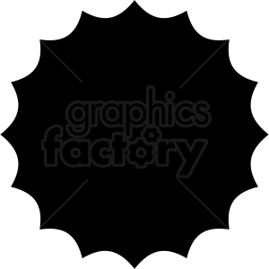 scalloped circle vector clipart design clipart. Commercial use image # 412584