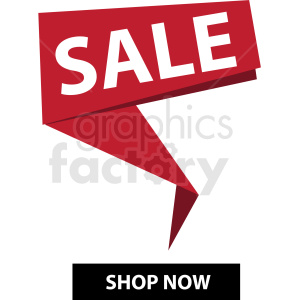 sale shop now notification banner twisted icon vector clipart clipart. Royalty-free image # 412681