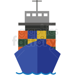 cargo ship vector clipart clipart. Commercial use image # 412692