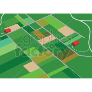 farm land aerial scene vector design clipart. Commercial use image # 412696