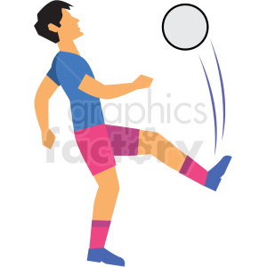 man playing soccer vector clipart clipart. Commercial use image # 412737