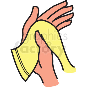 drying hands vector clipart clipart. Commercial use image # 412755