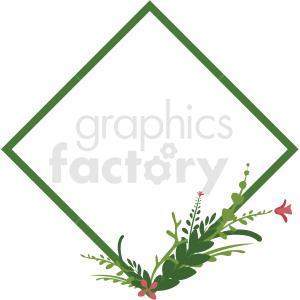 diamond shaped floral frame vector clipart clipart. Royalty-free image # 412775