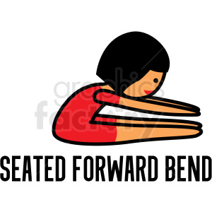 girl doing yoga seated forward bend vector clipart clipart. Commercial use image # 412807