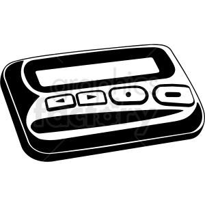 pager beeper vector clipart. Commercial use image # 412838