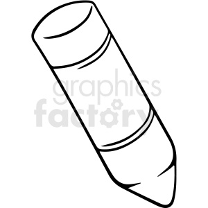 black and white cartoon crayon vector clipart. Royalty-free image # 412865