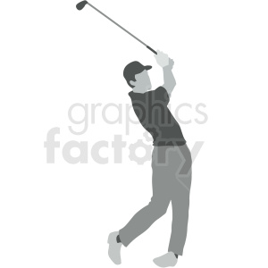 man golfing vector illustration clipart. Royalty-free image # 412924