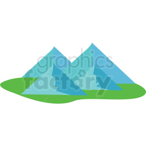 mountain vector clipart icon clipart. Royalty-free image # 412972