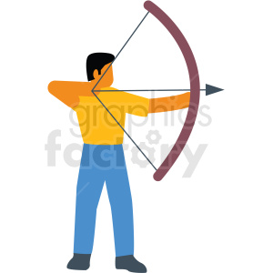 archery vector icon clipart. Commercial use image # 412975