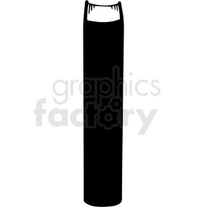 black and white standing book vector clipart clipart. Royalty-free image # 413005