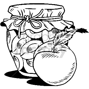 black and white peach jar vector clipart clipart. Royalty-free image # 413302