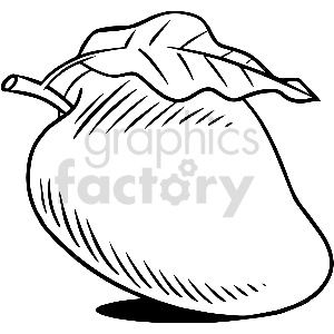 black and white pear vector clipart clipart. Royalty-free image # 413312