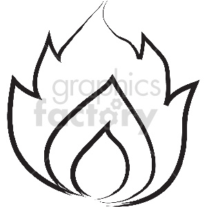 black and white tattoo fire vector clipart clipart. Commercial use image # 413326