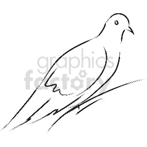black and white pigeon vector clipart clipart. Commercial use image # 413346