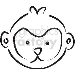 black and white tattoo monkey vector clipart clipart. Commercial use image # 413386