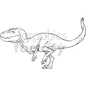 black and white tyrannosaurus dinosaur vector clipart clipart. Royalty-free image # 413392