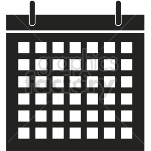 calendar vector clipart 3 clipart. Commercial use image # 413499