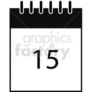 calendar vector clipart 4 clipart. Commercial use icon # 413530