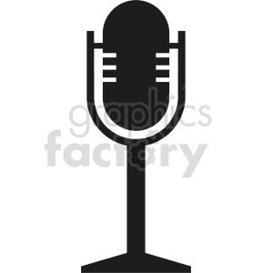 microphone vector icon graphic clipart 14 clipart. Royalty-free image # 413575