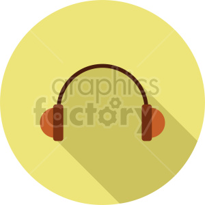 headphones vector icon graphic clipart 8 clipart. Commercial use image # 413594