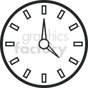 wall clock vector icon graphic clipart 4