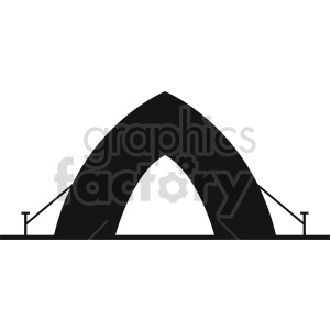 camping tent vector graphic clipart 5