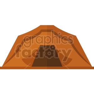 orange camping tent vector graphic clipart