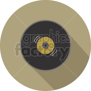 vinyl record vector icon graphic clipart 2 clipart. Commercial use image # 413691