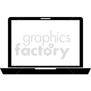 laptop computer vector graphic clipart 8 clipart. Commercial use image # 413714