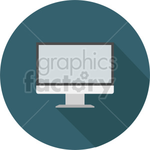 computer monitor vector graphic clipart 4 clipart. Commercial use image # 413715