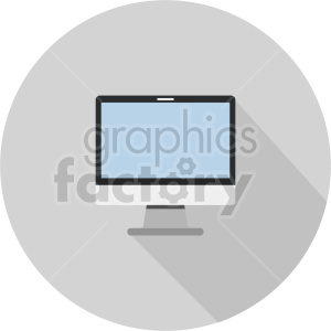 computer monitor vector graphic clipart 3