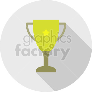 trophy vector icon graphic clipart 2