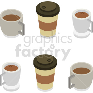 isometric coffee cup vector icon clipart 7 clipart. Commercial use image # 413962